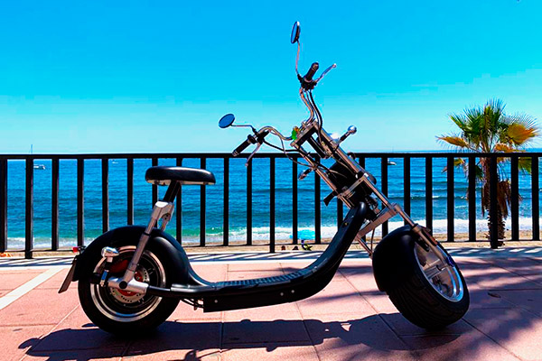 Chopper eléctrica alquiler Marbella | Costa Deluxe